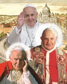 The Three Popes Posters by Kamili at AllPosters.com