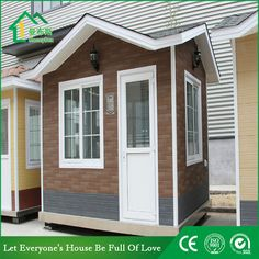 Guard house WhatsApp: +8618620106756 Steel Structure Buildings, Guard House, Portable Toilet, Prefab Homes, Shed, Construction, Outdoor Structures, House Design, Closet