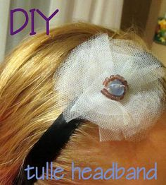 Sea Glass and Ribbons: DIY tulle headband