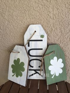 Items similar to Reversible Tags, Door Hangers, St. Patty's Day Sign, Custom Signs, Wooden Si… – St Patrick's Day Crafts DIY St Patrick's Day Crafts, Holiday Crafts, Diy And Crafts, St Patrick's Day Decorations, Valentine Decorations, St. Patricks Day, Wood Tags, St Paddys Day, Craft Night