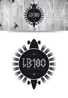 Diseño para el concurso organizado por Longboard180 y la tienda especializada Cachet, en el que se pedia un diseño con los caracteres LB180 y la dirección web www.longboard180.com /// Diseño: Artídoto