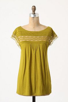 Oriel Tee in Green from Anthropolgie. I love the color and the feminine details.