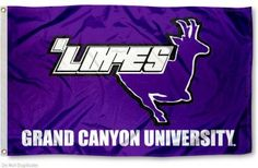 GCU Lopes Flag measures 3x5 feet, is made polyester, has quadruple stitched flyends, a canvas side header with two metal grommets, and the NCAA college...