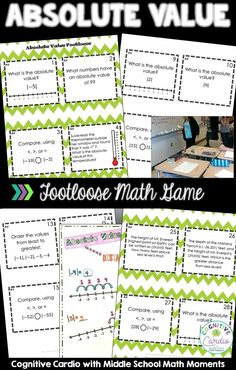 Are you looking for a fun way to help your math students practice absolute value concepts? Keep students engaged and practicing with Absolute Value Footloose! Teaching Numbers, Teaching Math, Math Classroom, Classroom Activities, Absolute Value Equations, Math Lab, Middle School Grades, Fun Math Games, Math Practices