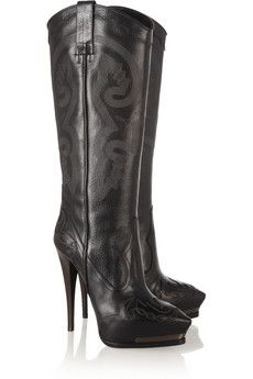 High Heeled Cowgirl Boots - Boot Hto