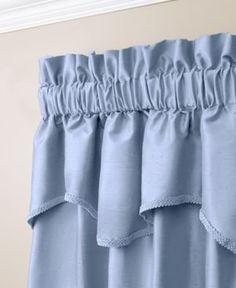 "Miller Curtains Buckingham Antique Satin 52"" x 18"" Window Valance - Blue"