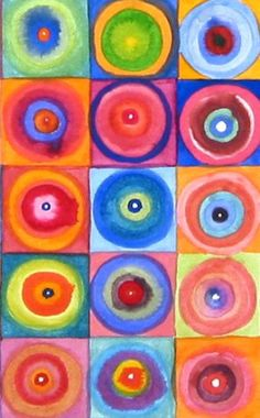 Check out student artwork posted to Artsonia from the Grade Kandinsky Circles project gallery at Sunset Valley Elementary. Wassily Kandinsky, Henri Matisse, Classe D'art, Abstract Words, Circle Art, Kindergarten Art, Art Lesson Plans, Art Classroom, Art Club