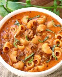 Beefy Tomato Soup Recipe