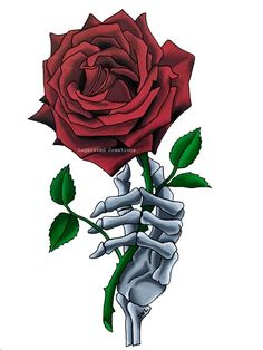 Red Rose Drawing, Rose Drawing Tattoo, Rose Sketch, Hair Sketch, Og Abel Art, Hand Holding Rose, Dandelion Drawing, Red Flower Tattoos, Rose Flower Wallpaper