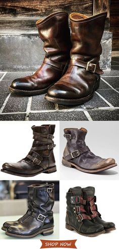 Hot Sale Men's Elegant Vintage Boots On Sale.Casual Style√Plus Size√Time-limited√Comfy√Shop now! Hot Sale Men's Elegant Vintage Boots On Sale.Casual Style√Plus Size√Time-limited√Comfy√Shop now! Men's Shoes, Shoe Boots, Dress Shoes, Vintage Boots, Mens Fashion Suits, Men's Fashion, Boots For Sale, Mens Clothing Styles, Men Casual
