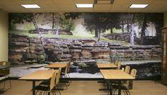 Not enough windows in your classroom? Give your students an outdoor view by adding a mural!