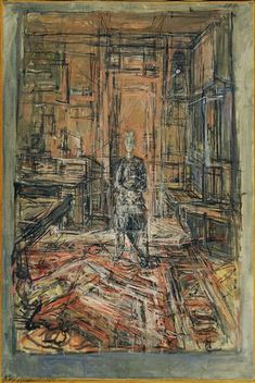 Foto: The Artist's Mother by Alberto Giacometti, The Museum of Modern Art, New York . Giacometti pintó a su madre en 1950 Alberto Giacometti, Giacometti Paintings, Figure Painting, Painting & Drawing, Museum Of Modern Art, Life Drawing, Oeuvre D'art, Piet Mondrian, Impressionism
