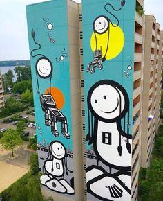 Street Art, by The London Police, in Berlin, Germany