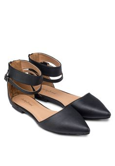 Pointed Flats With Ankle Strap  http://www.zalora.com.ph/Pointed-Flats-With-Ankle-Strap-261425.html  PHP699