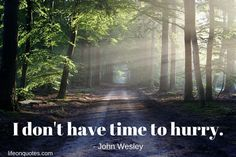I do not have time to hurry. - John Wesley