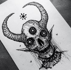 Pin by lexi budge on tattoos and piercings in 2019 эскиз тат Tattoo Sketches, Tattoo Drawings, Drawing Sketches, Scary Drawings, Dark Art Drawings, Arte Horror, Horror Art, Horror Drawing, Dark Art Tattoo