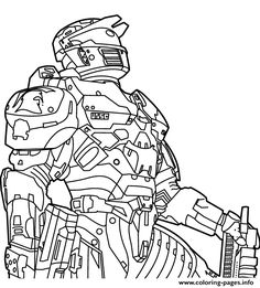 Free Halo Sheets Coloring Pages