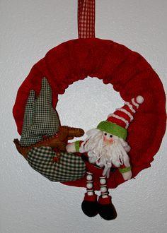 Dachshund Christmas  Wreath Santa and Max by MaxMinnieandMe, $39.00