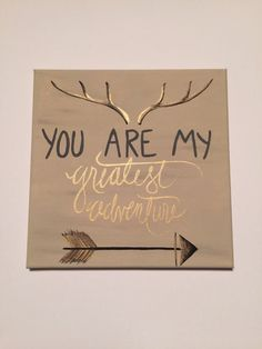 You Are My Greatest Adventure Canvas Painting by KarliAnnDesigns