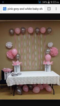 Pink grey & white
