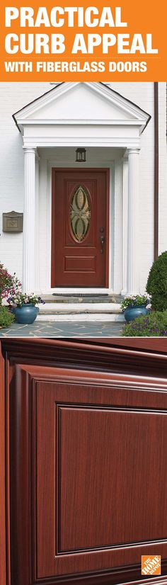 When the temperature drops, you want a door that keeps the heat inside while also maintaining great curb appeal. Fiberglass doors are an inexpensive and energy efficient alternative to wood doors. You get the same look and feel of real wood with a material that resists cracking, warping, splitting and denting. Click through to see our selection of stylish, high-performing fiberglass doors at The Home Depot.