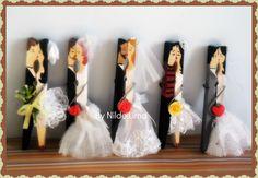 Gente! Olha que fofo ♥♥♥♥♥ Imagina ter vários pregadores desse decorando seu chá de panela ou seu casamento!