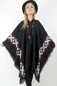 Vtg 70s Poncho Blanket Southwestern Coat NAVAJO by TatiTatiVintage