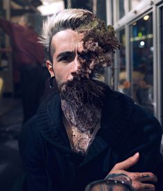 """Powerful Photos Of People Devoured By Mother Nature. French digital artist and photographer Carl Redback is the talented individual behind the eye-catching series """"Treebeard"""""""