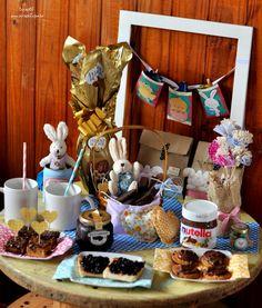 Decoração - Mesa de café da manhã de Páscoa - ScrapBi