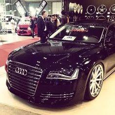 Audi on Vossen Wheels Ferrari, Maserati, Bugatti, Lamborghini, Fancy Cars, Cute Cars, Audi A8, Audi Quattro, Rolls Royce