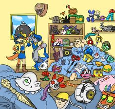 sly cooper- try to find all of the game references! comment what you find.