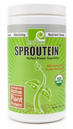 Sproutein Protein Supplement Powder - Superfood with Sprout Powder, Hemp Powder, Goji Berry, Lucuma, Maca Root & Yacon Root - High Fiber - Organic, Raw by Sprout Living, http://www.amazon.com/dp/B006HM987Q/ref=cm_sw_r_pi_dp_gNbYqb04M7RX1