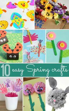 Spring toddler crafts, spring arts and crafts, summer crafts Spring Arts And Crafts, Spring Toddler Crafts, Summer Crafts, Crafts For Kids To Make, Crafts For Teens, Crafts To Sell, Kids Crafts, Easter Crafts, Lunch Boxe