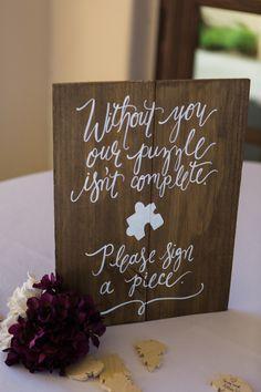 Custom Wooden Puzzle Guest Book in Phoenix, Arizona