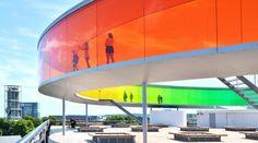 aros museum in denmark! the rainbow panorama exhibit. absolutely amazing!!