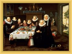Painting of a Family Dinner