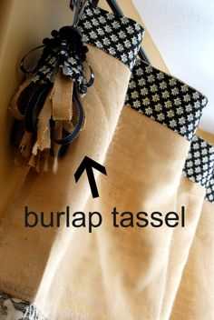Burlap Drapes | ... burlap and trimmed out in a contrast fabric. That burlap tassel is