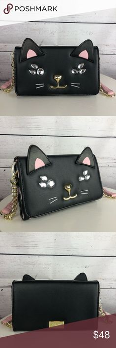 d7ea0fac19 Spotted while shopping on Poshmark  💕SALE💕 Betsey Johnson Cat Crossbody!