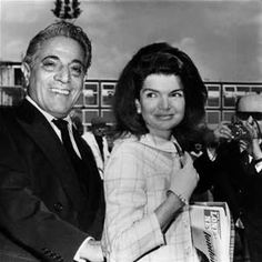 Aristotle Onasis and Jacqueline Kennedy on his yacht the Christine. http://smarturl.it/FatefulNight