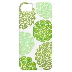 Green, Mint, Succulents print on an iPhone case