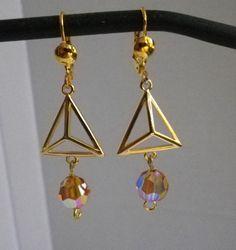 Ohrhänger - Ohrhänger Dreiecke Imogen - ein Designerstück von sibea bei DaWanda
