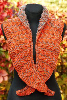 Flaming Shawl pattern by Lady in Yarn
