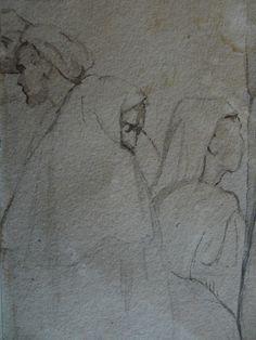 CHASSERIAU Théodore,1846 - Arabe barbu et autres Figures - drawing - Détail 24