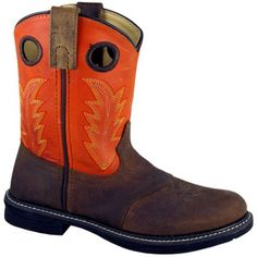 Children's Buffalo Burnt Orange Distress Leather by Smoky Mountain Boots