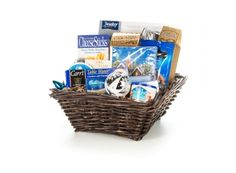 Holiday Indulgence Gift Baskets Supplies Canada | Whish.ca Gift Baskets, Blue Gold, Canada, Holiday, Gifts, Home Decor, Sympathy Gift Baskets, Vacations, Favors