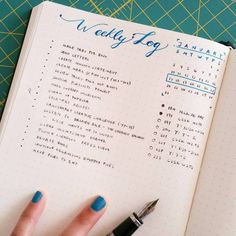 Bullet Journal Weekly Log by @tinyrayofsunshine