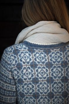 Ravelry: Delft Royal Jacket pattern by Sidsel J. Fair Isle Knitting Patterns, Fair Isle Pattern, Sweater Knitting Patterns, Knitting Stitches, Knitting Designs, Knit Sweaters, Knitting Machine, Knitting Ideas, Cardigans