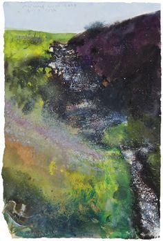 The Burn. Kurt Jackson Seascape Paintings, Landscape Paintings, Acrylic Paintings, Watercolor Paintings, Pastel Landscape, Abstract Landscape, Kurt Jackson, St Just, Love Drawings