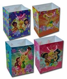 12-Pack Disney Fairies Tinkerbell Medium Party Gift Bags