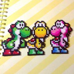 Yoshi perler beads by caiicaiichan